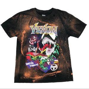 Marvel Venom Distressed Bleached Graphic T-Shirt L